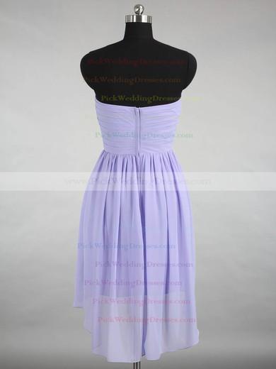 Ladies High Low Ruffles Chiffon Sweetheart Asymmetrical Bridesmaid Dresses #PWD01012870