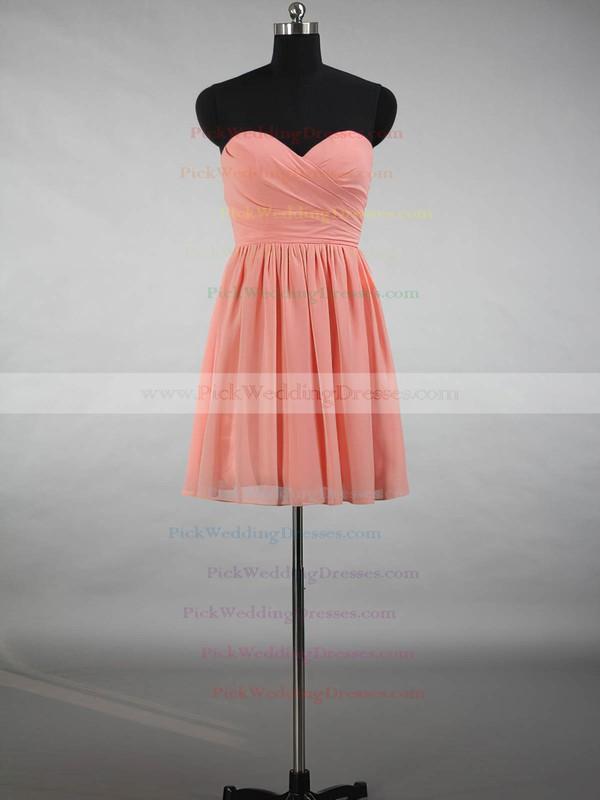 Short/Mini A-line Sweetheart Ruffles Chiffon Beautiful Bridesmaid Dresses #PWD01012871