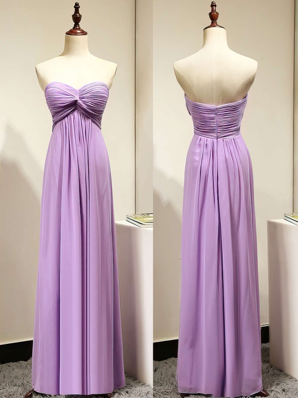 Lavender Sweetheart Criss Cross Chiffon Classy Empire Bridesmaid Dresses #PWD01012872