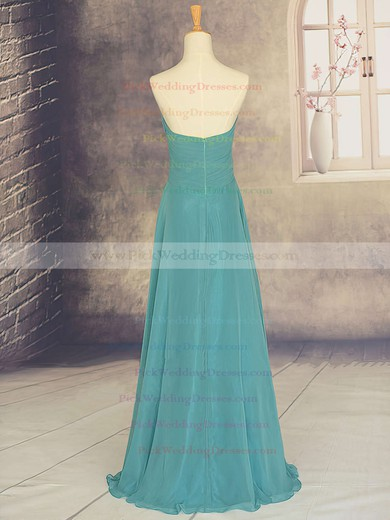Sweep Train Sweetheart Chiffon with Ruffles Inexpensive Bridesmaid Dresses #PWD01012878