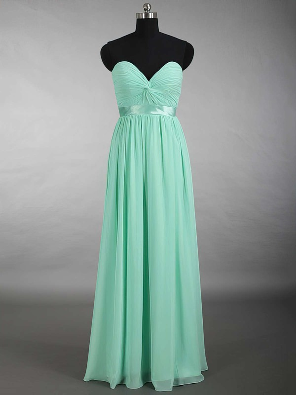Sage Chiffon Criss Cross Sweetheart Floor-length Perfect Bridesmaid Dress #PWD01012879