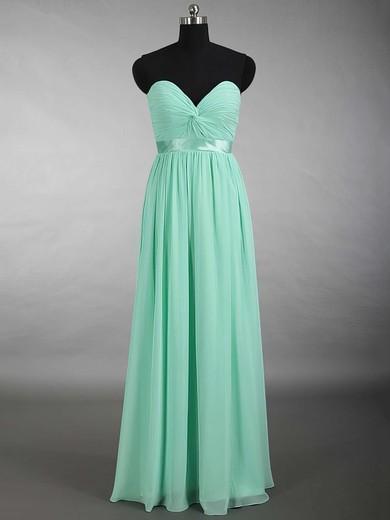 Sage Chiffon Criss Cross Sweetheart Floor-length Perfect Bridesmaid Dress #PWD01012879