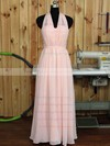 Floor-length Sweetheart Pink Chiffon Ruffles Nice Bridesmaid Dress #PWD01012890