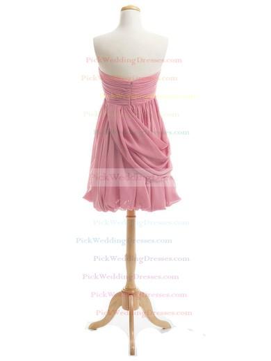 Simple Sweetheart Ruffles Chiffon Short/Mini Sheath/Column Bridesmaid Dresses #PWD01012919