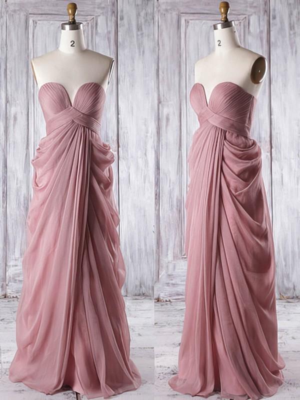 Wholesale Sweetheart Ruffles Chiffon Floor-length Empire Bridesmaid Dresses #PWD01012933