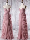 Wholesale Sweetheart Ruffles Chiffon Floor-length Empire Bridesmaid Dresses #PWD01012933