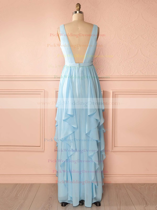 A-line Chiffon Sashes / Ribbons Floor-length V-neck Perfect Bridesmaid Dresses #PWD01012942