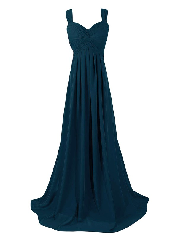 Discounted Sweetheart Sweep Train Chiffon with Criss Cross Empire Bridesmaid Dresses #PWD01012945