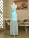 Strapless Sheath/Column Ruffles Satin Chiffon Asymmetrical Cheap Bridesmaid Dress #PWD01012949