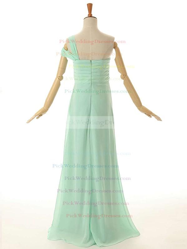 Empire Floor-length Ruffles Chiffon Original One Shoulder Bridesmaid Dresses #PWD01012954