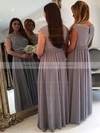 Boutique A-line Scoop Neck Chiffon Tulle Floor-length Appliques Lace Cap Straps Bridesmaid Dresses #PWD01012962