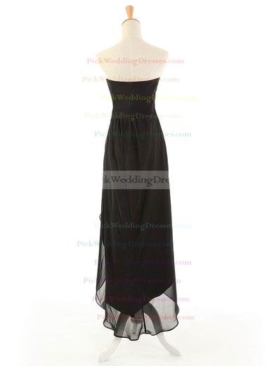 Black Empire Strapless Chiffon with Beading Online Asymmetrical Bridesmaid Dresses #PWD01012963