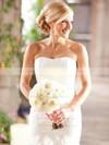 Trumpet/Mermaid Strapless Organza Cascading Ruffles Court Train Modest Wedding Dresses #PWD00022533