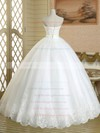Elegant Sweetheart Tulle Sashes / Ribbons Floor-length White Ball Gown Wedding Dresses #PWD00022578
