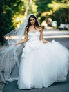 Sweetheart Tulle Sashes / Ribbons Floor-length Princess Wholesale Wedding Dresses #PWD00022602