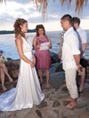 Cheap A-line Halter Silk-like Satin Ruffles Sweep Train Backless Wedding Dresses #PWD00022604