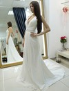 Halter A-line Chiffon Beading Court Train Backless Wholesale Wedding Dresses #PWD00022684