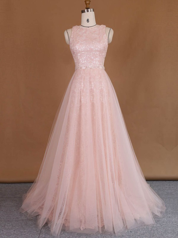 Wholesale Scoop Neck Sheath/Column Lace Tulle with Sequins Detachable Wedding Dresses #PWD00022729