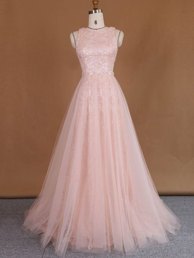 Wholesale Scoop Neck Sheath/Column Lace Tulle with Sequins Detachable Wedding Dresses #PWD00022729