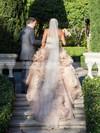 Glamorous Sweetheart Tulle Cascading Ruffles Court Train Princess Wedding Dresses #PWD00022747