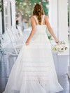 Beautiful A-line Sweetheart Chiffon with Ruffles Sweep Train Wedding Dresses #PWD00022752