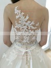 Affordable Sweetheart Tulle Appliques Lace Court Train Ball Gown Wedding Dresses #PWD00022773