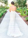 Graceful Sweetheart Tulle Appliques Lace Sweep Train Backless Trumpet/Mermaid Wedding Dresses #PWD00022780