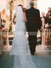 Classic Trumpet/Mermaid Satin Satin Chiffon with Beading Sweep Train Strapless Wedding Dresses #PWD00022783