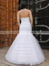 Elegant Trumpet/Mermaid Sweetheart Tulle Appliques Lace Floor-length Wedding Dresses #PWD00022831