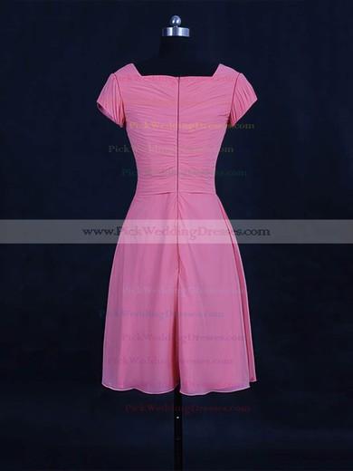 Chiffon V-neck Short/Mini A-line with Ruffles Bridesmaid Dresses #PWD01013120