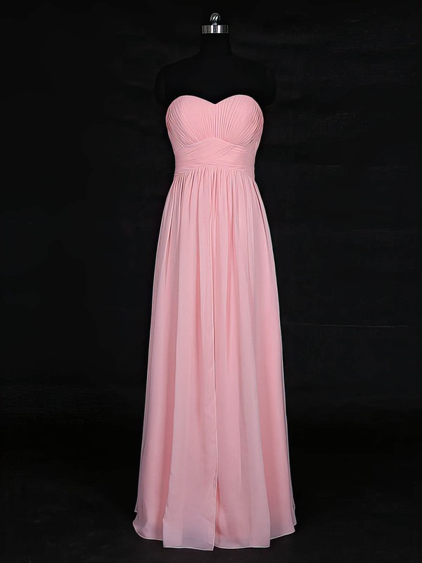 Chiffon Sweetheart Floor-length Empire with Ruffles Bridesmaid Dresses #PWD01013121