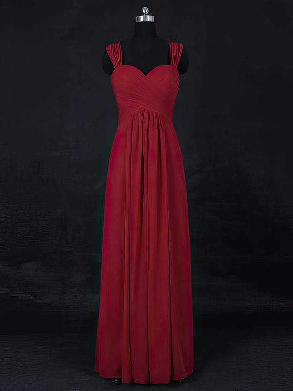 Chiffon Sweetheart Floor-length Empire with Ruffles Bridesmaid Dresses #PWD01013122