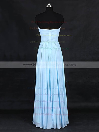 Chiffon Sweetheart Floor-length A-line with Criss Cross Bridesmaid Dresses #PWD01013126