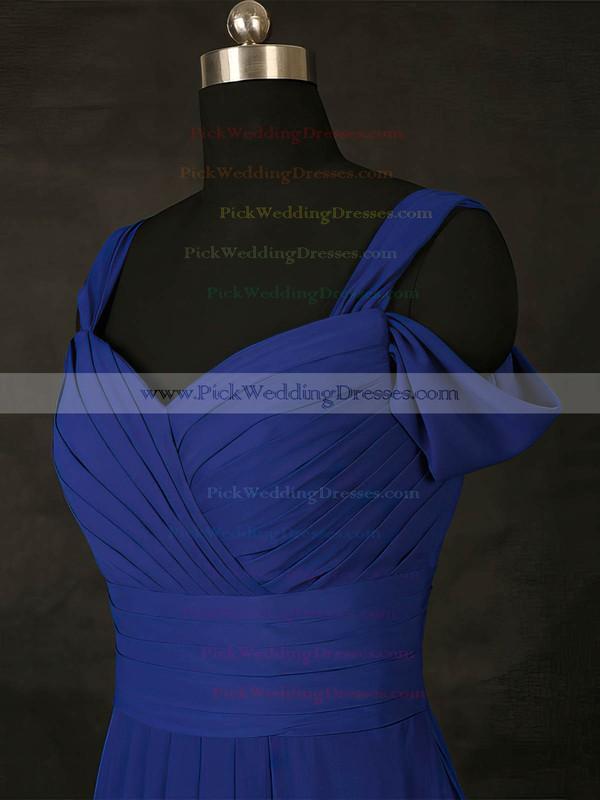 Chiffon V-neck Floor-length A-line with Ruffles Bridesmaid Dresses #PWD01013127