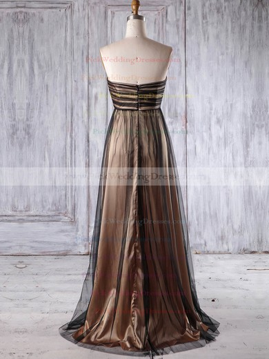 Tulle Sweetheart Floor-length Empire with Appliques Lace Bridesmaid Dresses #PWD01013177