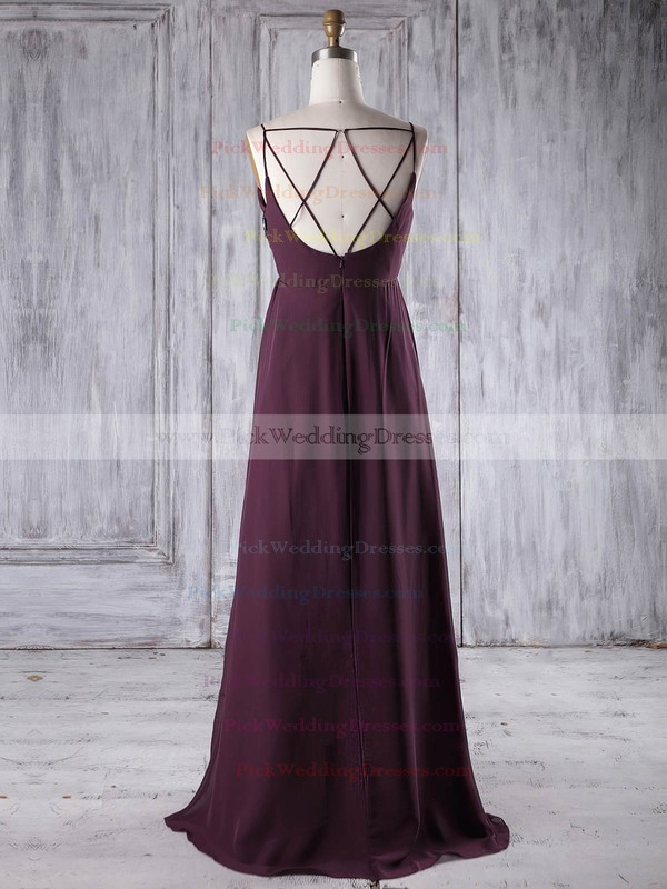 Chiffon V-neck Floor-length Empire with Ruffles Bridesmaid Dresses #PWD01013196