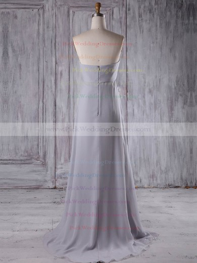 Chiffon Sweetheart Sweep Train Empire with Beading Bridesmaid Dresses #PWD01013210
