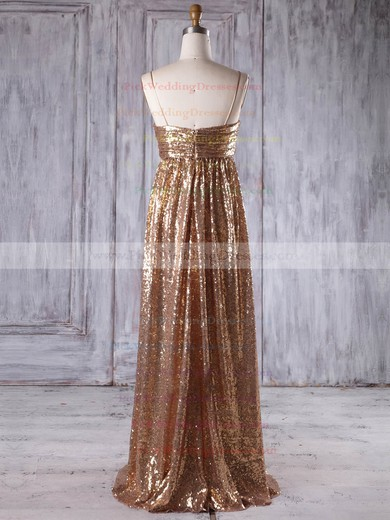Sequined Sweetheart Floor-length Empire with Ruffles Bridesmaid Dresses #PWD01013218