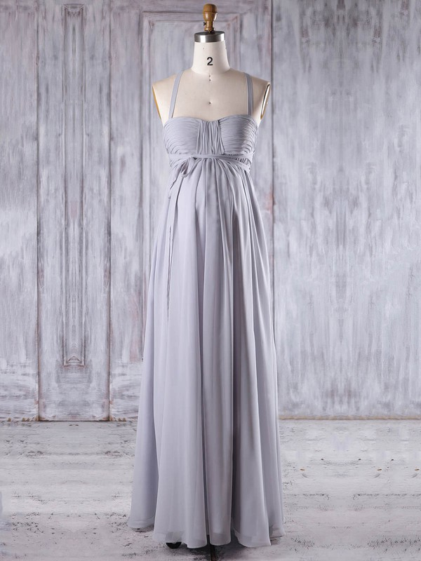 Chiffon Sweetheart Floor-length Empire with Ruffles Bridesmaid Dresses #PWD01013258