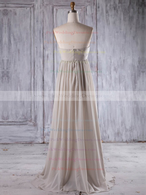 Chiffon Sweetheart Floor-length Empire with Flower(s) Bridesmaid Dresses #PWD01013261