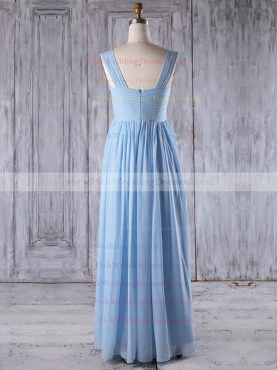 Chiffon One Shoulder Floor-length A-line with Ruffles Bridesmaid Dresses #PWD01013266