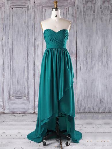 Chiffon Sweetheart Asymmetrical A-line with Ruffles Bridesmaid Dresses #PWD01013272