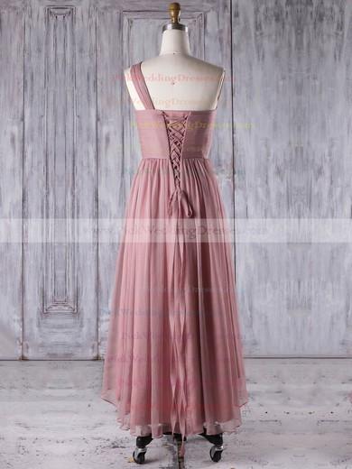 Chiffon One Shoulder Asymmetrical A-line with Ruffles Bridesmaid Dresses #PWD01013274
