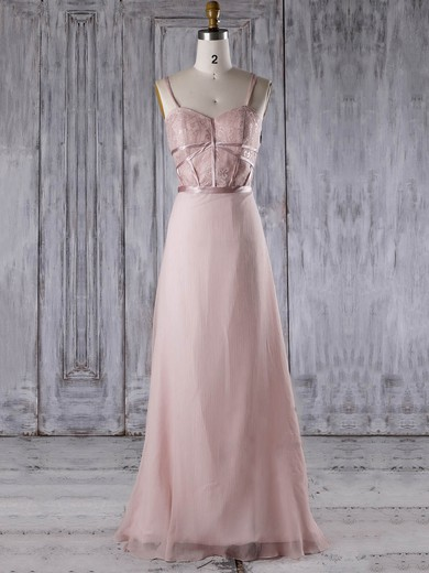 Chiffon Sweetheart Sweep Train A-line with Sashes / Ribbons Bridesmaid Dresses #PWD01013285