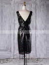 Sequined V-neck Short/Mini Sheath/Column with Ruffles Bridesmaid Dresses #PWD01013313