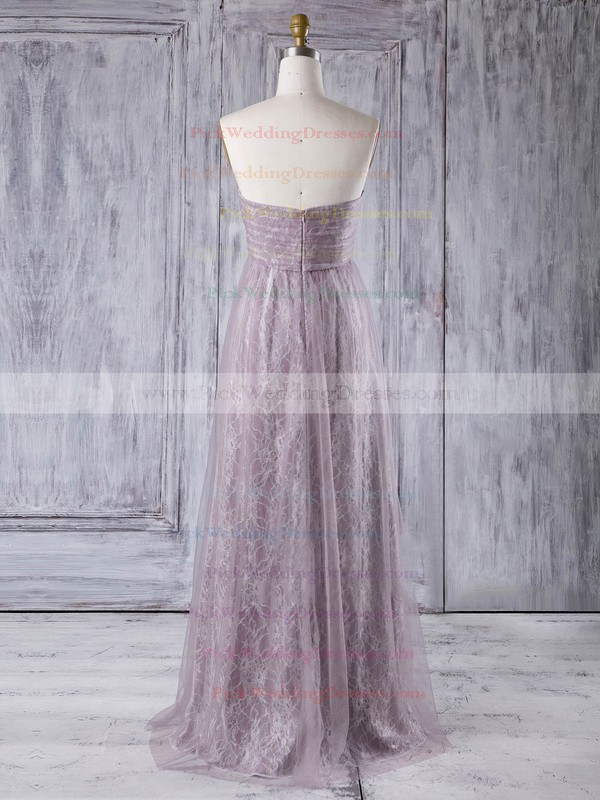 Lace|Tulle Sweetheart Floor-length Empire with Criss Cross Bridesmaid Dresses #PWD01013355