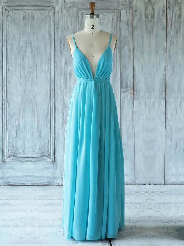 Chiffon One Shoulder Floor-length A-line with Ruffles Bridesmaid Dresses #PWD01013359