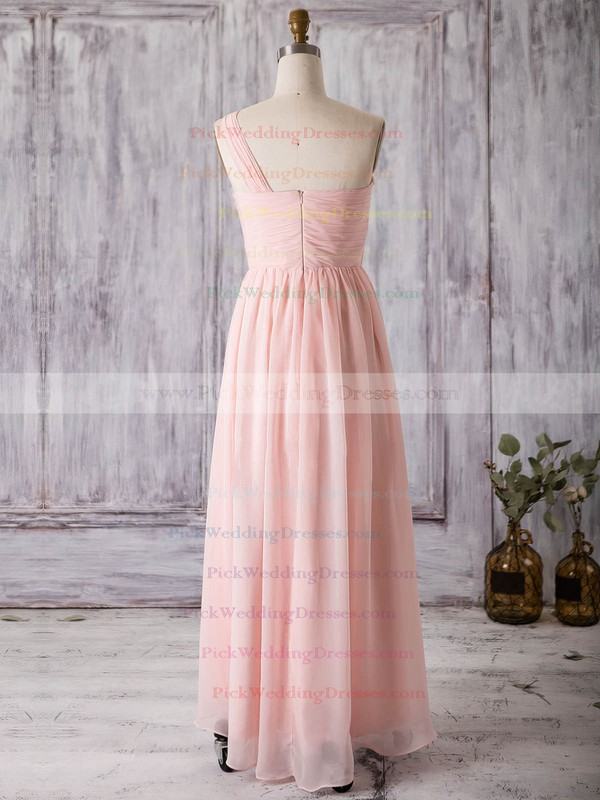 Chiffon One Shoulder Asymmetrical A-line with Split Front Bridesmaid Dresses #PWD01013367