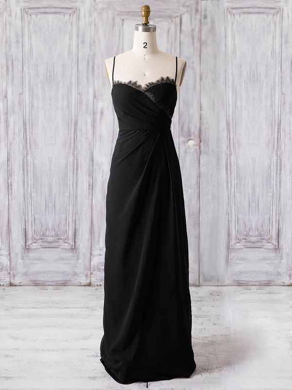 Chiffon Sweetheart Floor-length A-line with Lace Bridesmaid Dresses #PWD01013369