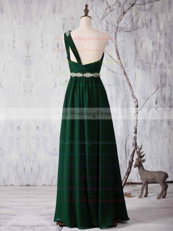 Chiffon One Shoulder Floor-length A-line with Sashes / Ribbons Bridesmaid Dresses #PWD01013371